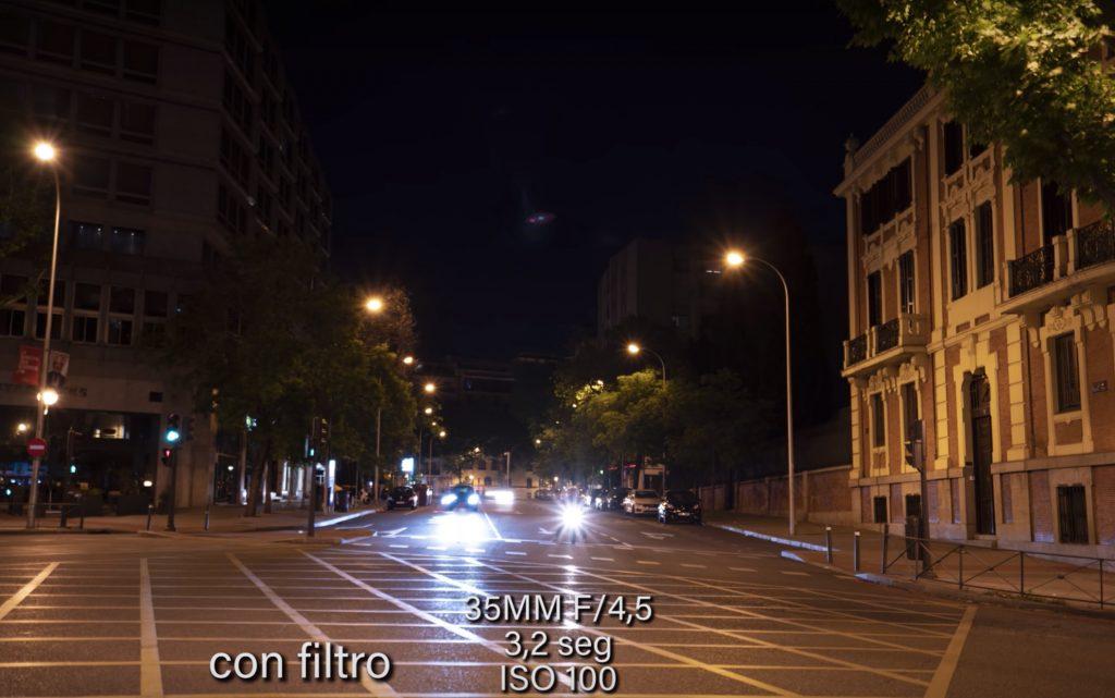 filtro fotografia noctura evitar contaminacion luminica