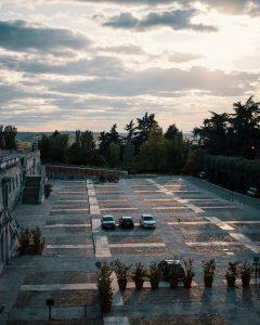 jardines de sabatini anochecer