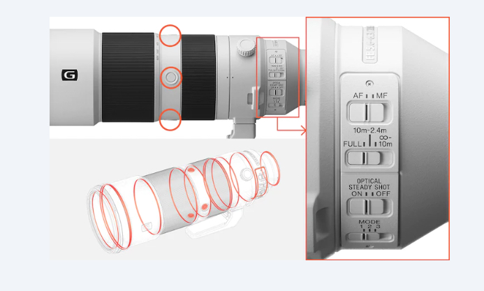 SONY FE 200 600 f 5.6 6.3 g oss teleobjetivo mirrorless